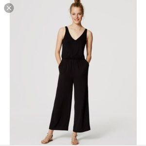 EUC mixed media jumpsuit